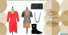 Get this amazing look for your Weekend Party  #FashionAccessories #LifeStyles #FashionFusion #Dresses #JewellerySets #Boots #Watches #Clutches #HandBags