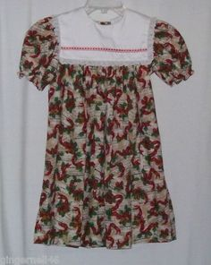 Bryan & Co Girls Dress Size 6X Red Green Christmas Holiday