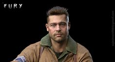 Fury Brad Pitt ver2, Sujesh Nair on ArtStation at https://www.artstation.com/artwork/YOGY3