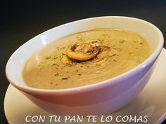 Ideas que mejoran tu vida Appetizer Recipes, Soup Recipes, Cooking Recipes, Recipies, Appetizers, Healthy Cooking, Healthy Recipes, Food Decoration, Mushroom Recipes