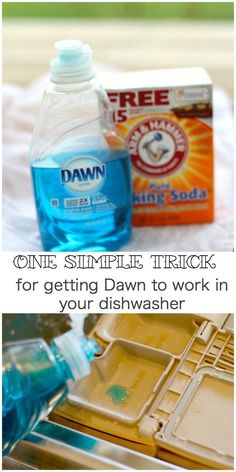 An easy recipe for homemade dishwasher soap with only two ingredients. An easy recipe for homemade dishwasher soap with only two ingredients. Homemade Dish Soap, Dishwasher Tabs, Homemade Dishwasher Detergent, Laundry Detergent, Dishwasher Cleaner, Safe Cleaning Products, House Cleaning Tips, Cleaning Supplies, Cleaners Homemade