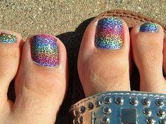 Wonderful foot toe nail art