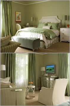 Feel the freshness of green around you every morning when you wake up from a good night's sleep. Green colour around you will calm your senses and will giv