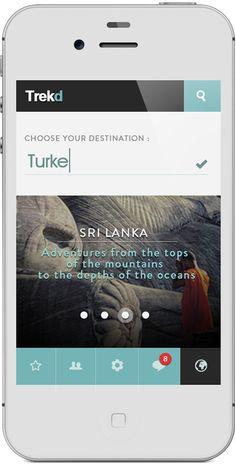 App Trekd Concept by Thomas Le Corre, via Behance News Web Design, Mobile Ui Design, App Ui Design, User Interface Design, Flat Design, Menu Design, App Design Inspiration, Design Ideas, Software