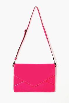 pink envelope bag - $17