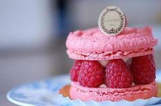 pink raspberry macaroon cake, Laudree is worth the queue