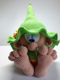 Best 12 ELF amigurumi handmade gnome green hat and di AmigurumieBijoux – SkillOfKing. Crochet Amigurumi, Crochet Bunny, Amigurumi Patterns, Amigurumi Doll, Crochet Animals, Crochet Dolls, Free Crochet, Knitting Patterns, Crochet Patterns