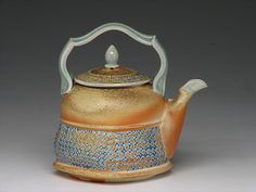 Tan Dome Teapot with Glaze Inlay by Steve Grimmer, via Flickr