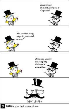 Pick up level: Gentleman