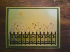 June card swap. Theme In the garden. Created by Joyce Almony.