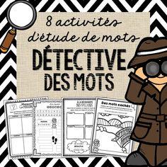 Soyez un détective des mots! Be a word work detective with these 8 fun activities!