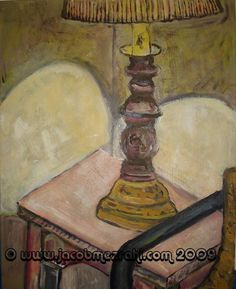 Old Lamp16 x 20 inches Acrylic on Stretched by MezrahiGallery, $99.00