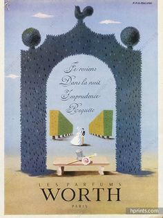 Worth (Perfumes) 1947 Pierre Fix-Masseau