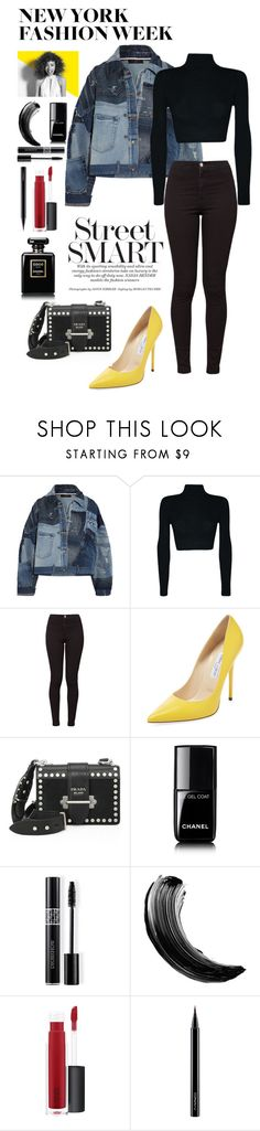 """Geen titel #301"" by stuart-l ❤ liked on Polyvore featuring Dolce&Gabbana, American Apparel, Jimmy Choo, Prada, Paul Mitchell, Chanel, Christian Dior, Maybelline, John Lewis and MAC Cosmetics"
