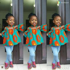 Ankara Styles For Kids; Little Girls And Baby Girls Ankara Styles Ankara Styles For Kids, African Dresses For Kids, African Babies, Ankara Gown Styles, African Children, Ankara Gowns, African Print Dresses, African Print Fashion, African Fashion Dresses