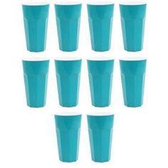 35 oz Double Wall Tumbler, 10-Pack, Teal