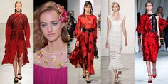 Proenza Schouler, Diane von  Furstenberg, Michael Kors, Jonathan Simkhai, and Peter Copping for Oscar de la Renta: All 5 designers (and more!) incorporated hints of Spanish culture into their collections, from bold red hues to toreador-esque flourishes.    - ELLE.com