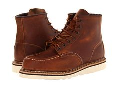 """Red Wing Heritage 6"""" Moc Toe Copper Rough & Tough - Zappos.com Free Shipping BOTH Ways"""
