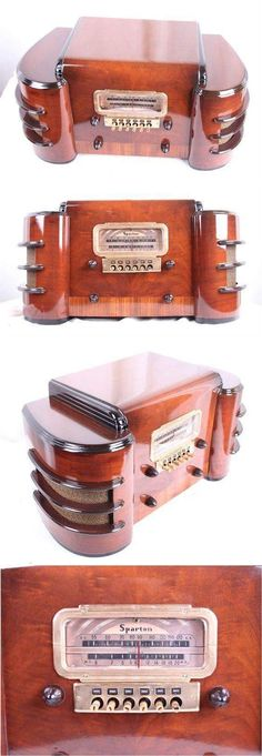 Well i hope mine will look as good when its done, Sparton 6128 radio Radio Vintage, Vintage Music, Vintage Wood, Radio Record Player, Record Players, Tvs, Art Nouveau, Retro Appliances, Old Time Radio