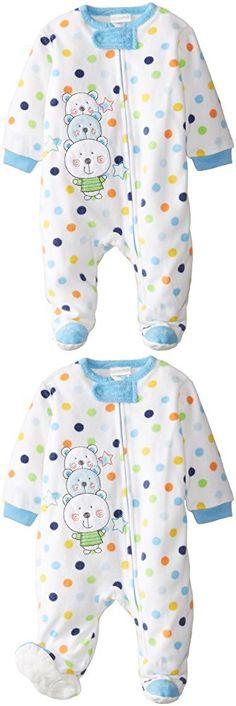 3443f98737 absorba Baby-Boys Newborn Multi Dot Blanket Sleeper