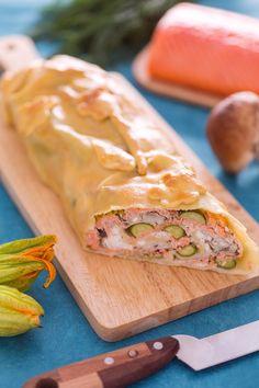 #Strudel al #salmone, #porcini e fiori di zucca. Arricchirà la vostra tavola di raffinatezza e gusto! #Giallozafferano #salmonenorvegese #strudel