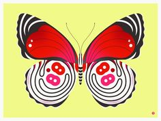 """88 butterfly. Our butterfly and moth series is inspired by some of our favorite real life little beauties. Each print in the series features a butterfly or moth, stylized and blown up to a beautiful big size to show off the wonderful colors and details of each. This print is inspired by the small but gorgeous 88 butterfly found in the amazon rain forest. 88 butterfly is a limited edition handmade screen print on heavy, titanium white archival paper. print measures 24"""" x 18"""" (61cm x…"""