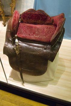 Medieval side saddle picture by Quinet Back when women actually sat facing sidewise on the horse. Then they usually had a servant leading them...