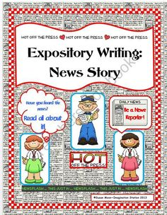 Students get to write a news story complete in newspaper form! This News Story Writing Packet provides students the opportunity to take the product through the publishing process. Included are: Lesson Plan Ideas, Vocabulary, Direction Sheet, Example Sheet, Graphic Organizer, Rough Draft Sheet, Editing Check List for a student partner as well as parents, Final Copy Sheet. I have also included additional rough draft and final copy sheets for those students that wish to do a double sided…