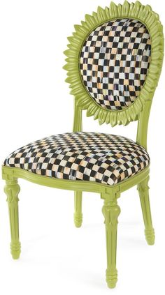 MacKenzie-Childs Sunflower Chartreuse Outdoor Chair