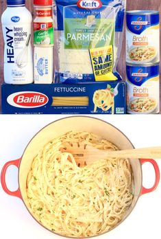 Fettucini Alfredo Recipe with Homemade Sauce! {The BEST Ever} - Easy Fettucini Alfredo Recipe! One Pot Sauce and pasta dinner the whole family will LOVE! Who nee - Fettuccine Alfredo, Sauce Recipes, Pasta Recipes, Cooking Recipes, Italian Dishes, Italian Recipes, Tofu, Easy Dinner Recipes, Italian Foods