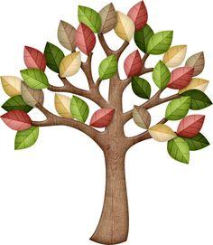 Яндекс.Фотки (tree, fall, autumn, leaves, leaf, red, yellow, green, dark green, light green, gray, brown)