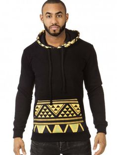 This stylish Hoodie in African print is from our new collection. Black color with african print. African Wear Designs, African Design, King Fashion, Gents Fashion, African Inspired Fashion, African Men Fashion, Moda Afro, Ankara Styles For Men, Style Africain