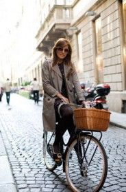 classic fashion on a bike