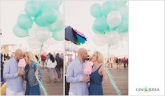 This lovely #esession at Santa Monica Pier is surely much sweeter than that cotton candy! #engagement #romantic