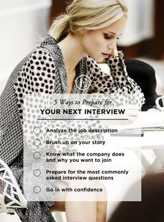 5 Ways to Prepare for Your Next Interview #theeverygirl