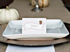free owl place setting cards.