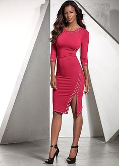 Stud detail dress, peep toe heel in the VENUS Line of Dresses for Women