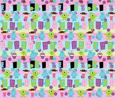 Monster fabric by pink posh on Spoonflower - custom fabric