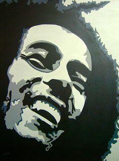 Pop Art~ Bob Marley - Jamaican Rastaman