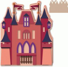 Castle shaped side fold card 5x7--------------I think I'm in love with this shape from the Silhouette Online Store!