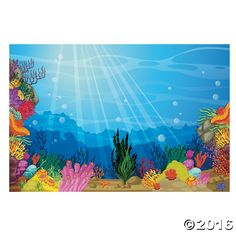VBS Under the Sea Backdrop Banner - OrientalTrading.com