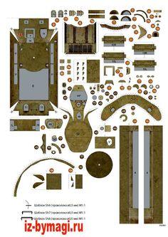 Схемы деталей танка Т-34 из бумаги №2