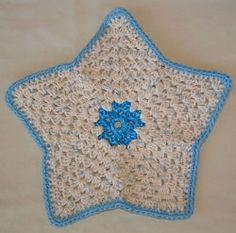 Star Dishcloth Crochet Pattern   AllFreeCrochet.com