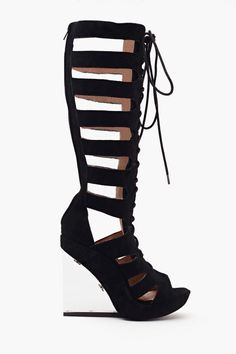 I need these in my life for no apparent reason. Rufa Gladiator Wedge