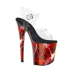 c6e17fb17b241d Women s Pleaser Flamingo 808 Storm Platform Ankle Strap Sandal Fantasy  Shoes. Plateau Heels ...