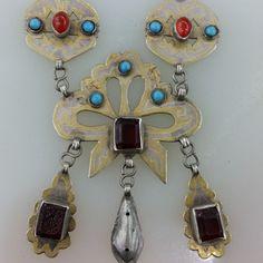 Turkmenistan Stammes-Silber Halskette von turkmenarts auf Etsy