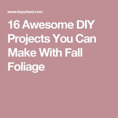 16 Awesome DIY Projects You Can Make With Fall Foliage