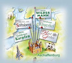 Webcam-Aschaffenburg.de Webcam mit Blick auf die Stadthalle, Marktplatz, Wochenmarkt, Weihnachtsmarkt