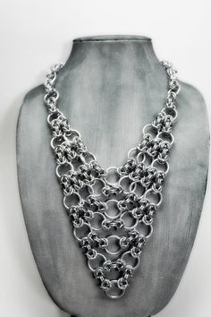 Intricate Arrow Aluminum Chainmail Necklace by EchelonsOfElliott, $100.00