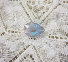 4.5 Carat Pear Cut Saphiret Glass Specialty Gem from the 1800s - Highly Collectible - by Gementia13Jewels